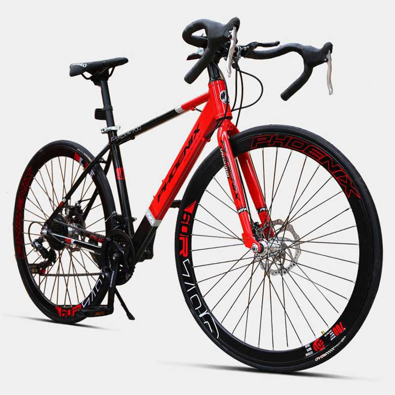 700c 21 Variable Speed Bike Double Disc Brake Ultra Light Aluminum Alloy Road Bike Adult Bend Bicycle Off-road Student Bicycle