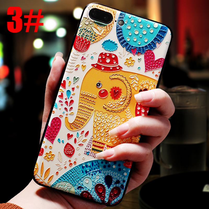 luxury flower phone copy housing etui capinha coque cover case for iphone 8 plus 8plus silicone silicon for apple accessories i in Half wrapped Cases from Cellphones Telecommunications