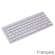 "French Bluetooth Wireless Mini Keyboard for Phone/Tablets/iPad Pro/Surface Pro Support Windows / Android / Mac ""AZERTY"" Layout(China)"