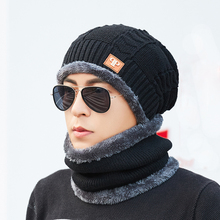 Newest Men Beanies Casual Balaclava Knitted Hat Fashion Neck Warmer Winter Hats For Outdoor Skullies Warm Fleece