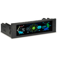 5.25 Drive Bay PC Computer CPU Cooling LCD Front Panel Temperature Controller Fan Speed Control for Desktop Computer