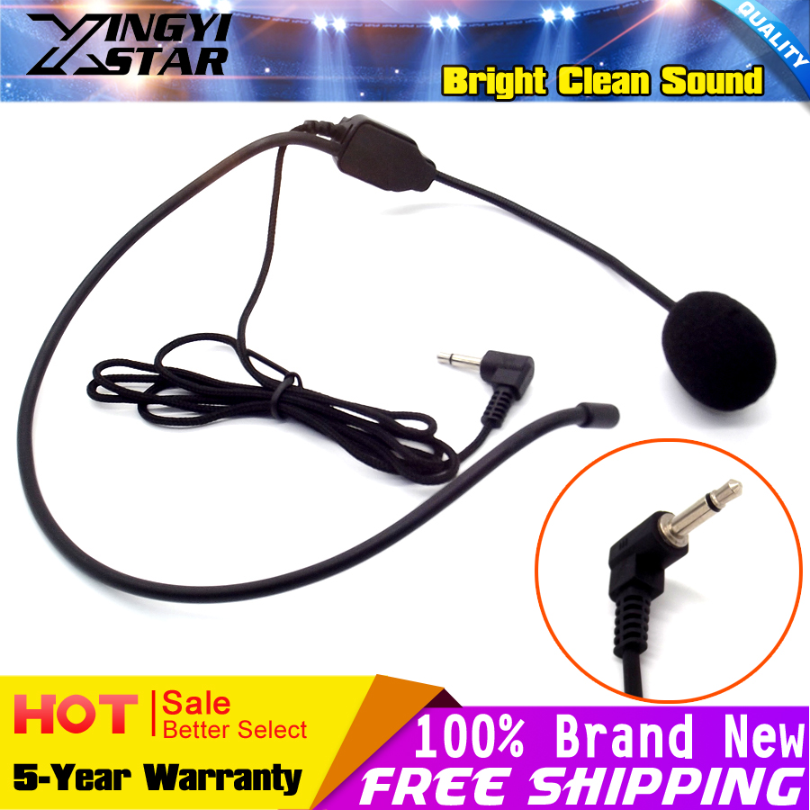 3.5mm Connector Condenser Headworn Earhook Mic Headset Microphone Headband Mike For PC Voice Speech Teaching Meeting Tour Guide image