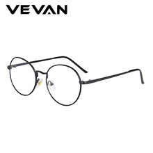 VEVAN 2019 Glasses Frame Men Alloy Spectacle For Women vintage Round Computer Woman Transparent Anti-blue