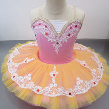 Pink purple ballet costumes professional tutu kids child girls ballerina party dress dance costume