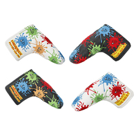 NEW Golf Clubs Putter Headcover PU Embroidery Golf Putter Cover For Blade Golf Putter Balck White