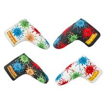 NEUE Golf clubs putter headcover PU Stickerei Golf Putter Abdeckung für Klinge golf putter schwarz/weiß farbe freies verschiffen