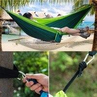 Camping Double Hammock Outdoor Survival Travel Portable Gear Parachute Nylon New