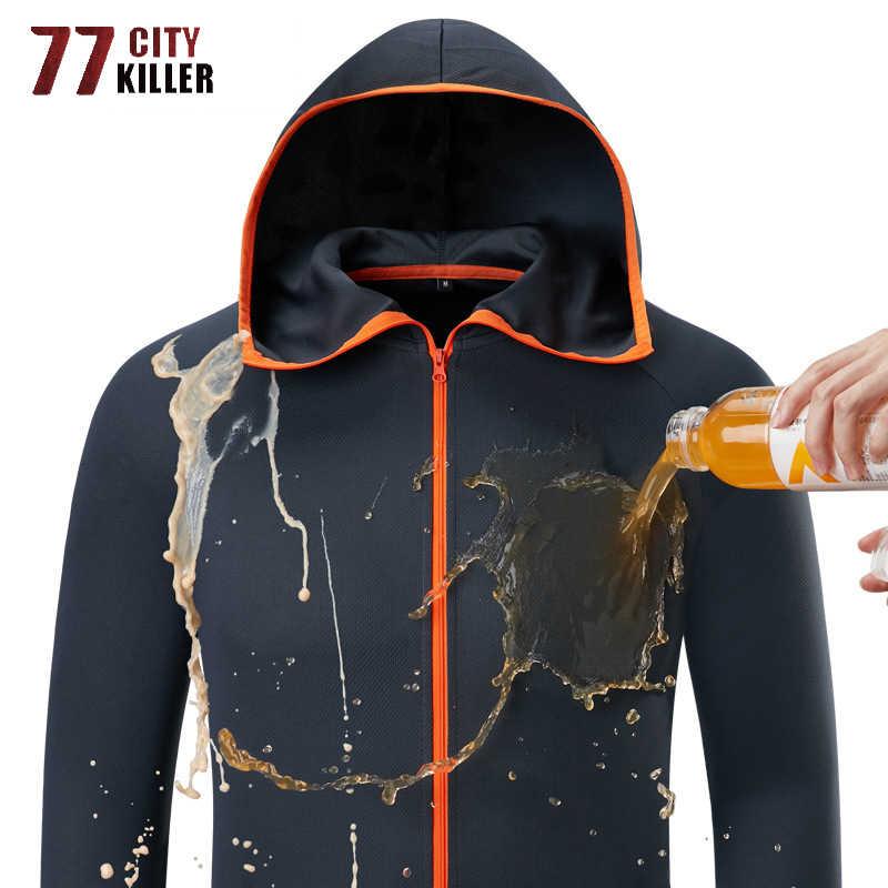 Новинка с капюшоном невыгорающая куртка мужская летняя Водонепроницаемая быстросохнущая тонкая легкая куртка мужская верхняя одежда дышащие куртки M-4XL
