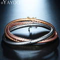 AYAYOO Charms Bracelets Bangles Jewelry For Women Party Gold/Silver Plated African Indian Bridal Vintage Party Gift Accessories