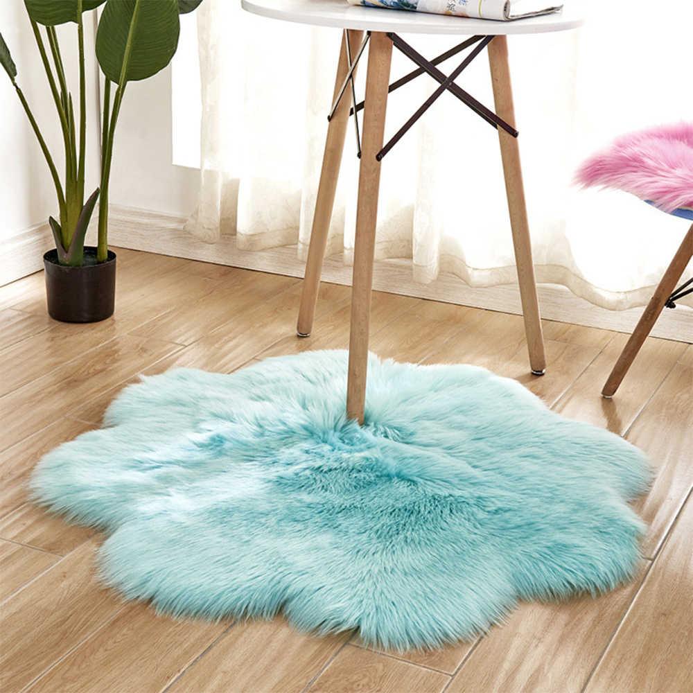 Urijk לבן ורוד אפור מקורה כבש שטיח מערכות רך פו פרווה צמר שטיח מודרני שטיח מחצלת Purpule סלון/ שינה