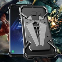 Spiderman MaiMoke For Samsung galaxy S8 Case Metal Armor Mobile Phone Bumper For Samsung galaxy S8 Plus Case Alloy Phone Cover
