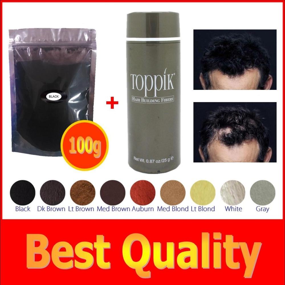 100g+ 25g bottle 9 colors hair building fiber for bulk or Wh