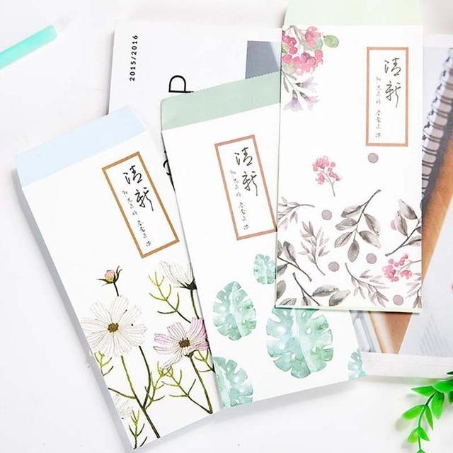 10cpslot Chinese Painting Style Envelope Birthday Letter Envelopes