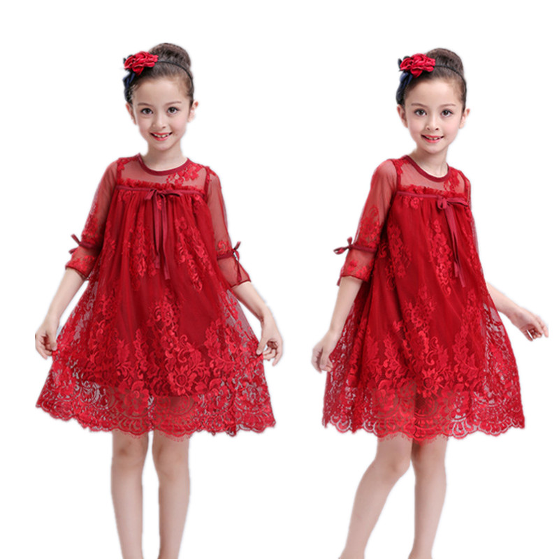 2017 Summer Style Girls Dress Kids Wedding Party Dresses Children Fancy tutu Dress Teenagers Robe Fille Enfant Lace girl clothes нож для триммера frs 4125 bc 4125 ii s