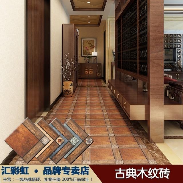 Madera clásica, cerámica azulejos baldosas de la cocina pasillo ...
