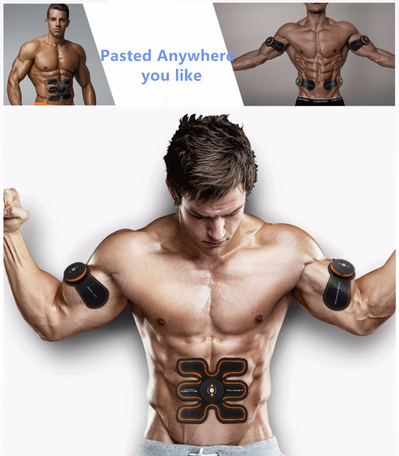 Rechargeable Battery Gym Electronic Body Muscle Arm Waist Abdominal Exerciser Muscle Massaging Machine Viberating Slim Belt