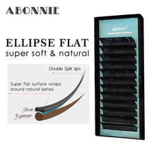 False Mink Eyelashes Flat Lashes Individual Eyelash Extension Volume Extensions Ellipse Natural Short Split-tips