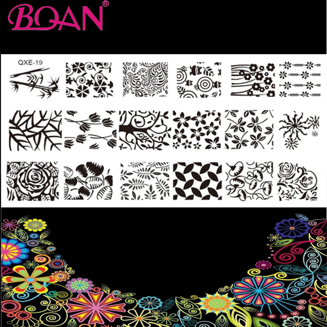 10pcslot 18 Different Types Patterns Stainless Steel Nail Art