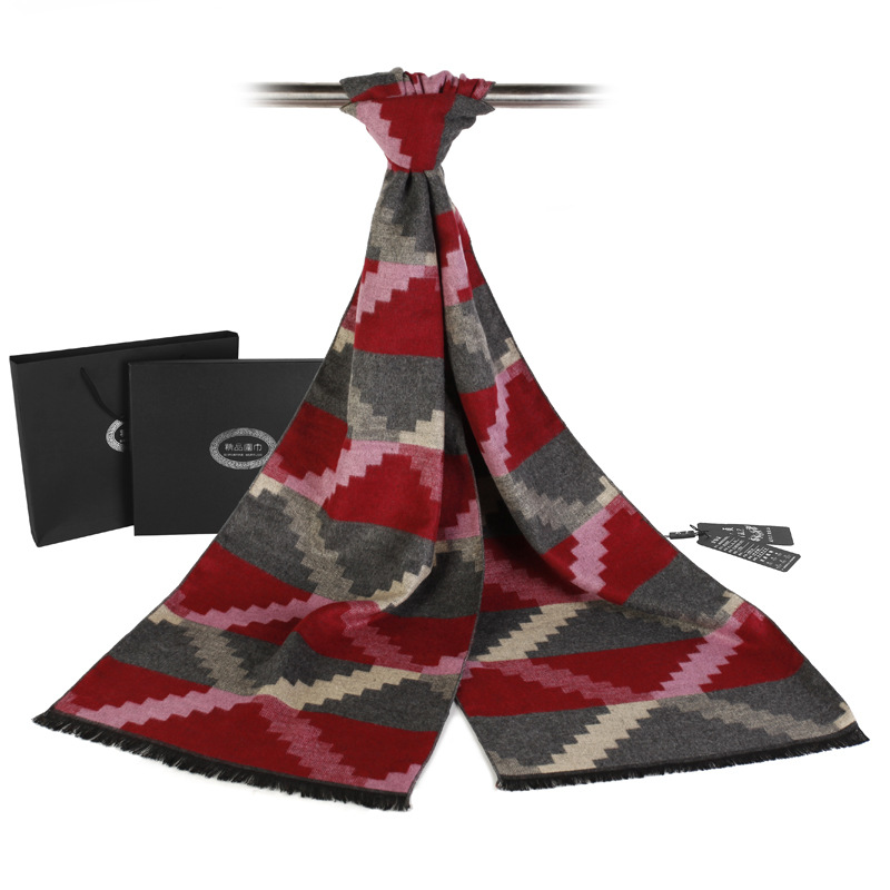 New Scarf Luxury Brand Men Winter font b Tartan b font Cashmere Scarf Chic Plaid Business