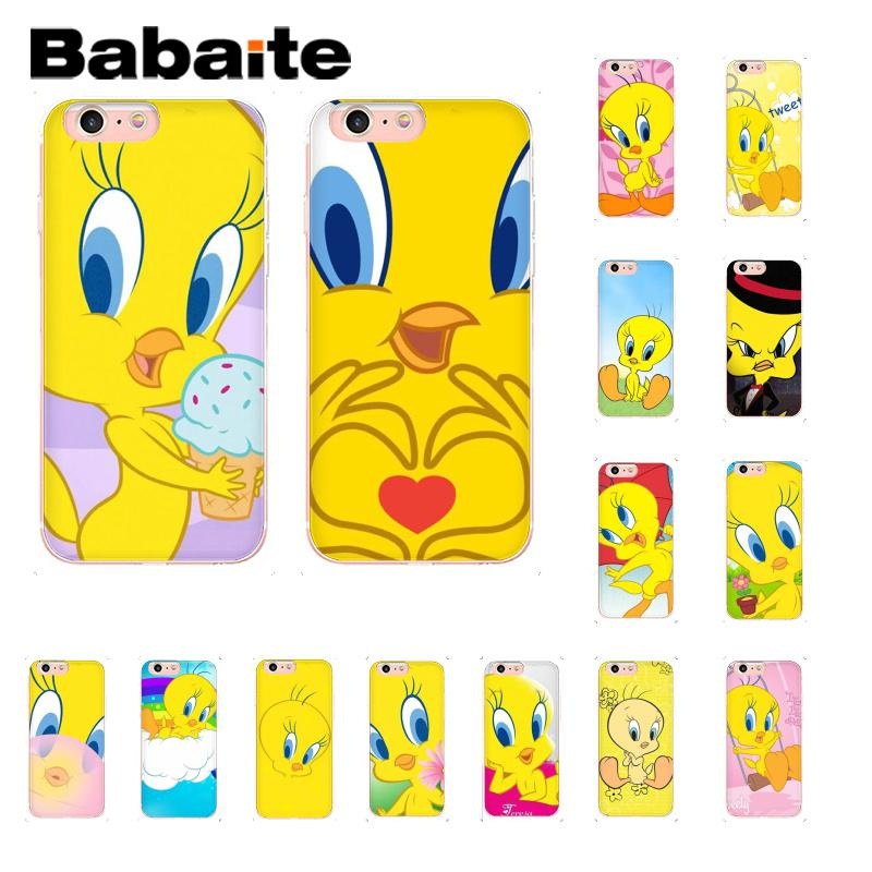 Babaite Tweety Yellow Bird DIY Painted Phone Accessories