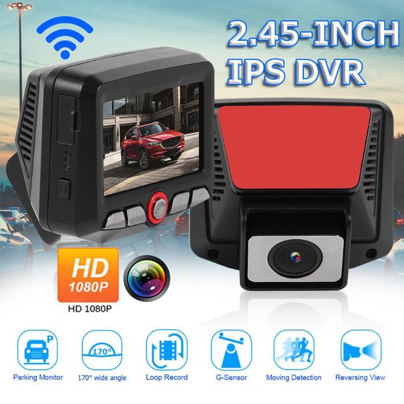 D015 HD 1080 p voiture DVR tableau de bord caméra WiFi 170 degrés lentille Vision nocturne Dashcam supportant G-SENSOR Induction de Collision par gravité