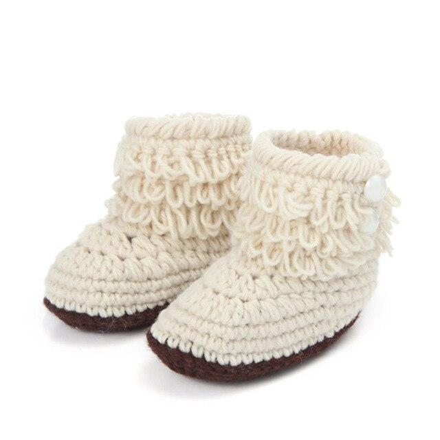Moda Fringe bebé invierno recién nacidos niños niñas botines del ...