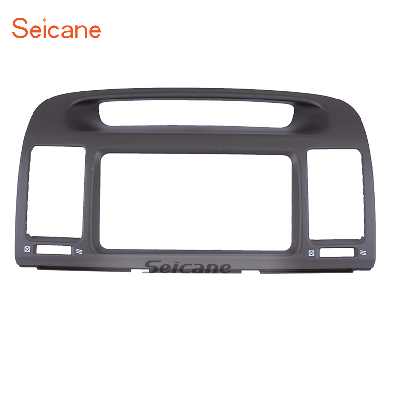 Seicane In Dash Car Stereo Radio Fascia Panel Install Frame Dash Bezel Trim kit For 2000-2003 TOYOTA CAMRY WITH HOLE 2 DIN 11pcs new red nylon auto car audio door dash tirm panel install