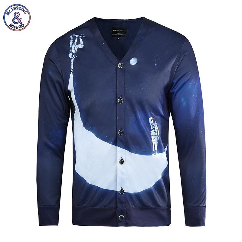 Mr 1991INC Hip Hop Fashion Blouse Men s 3d Shirts Long Sleeve V neck Button Tees