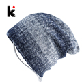 Mens Skullies&Beanies Bonnet Autumn And Winter Cap Hip Hop Knitted Beanie Cotton Plus Velvet Hat Wool Hats For Men