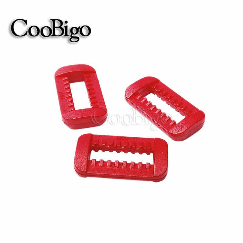 2pcs ปรับสีสัน Slider ห่วงล็อคสี่เหลี่ยมผืนผ้าแหวนสำหรับสายรัดกระเป๋าเป้สะพายหลังการ์เม้นท์กระเป๋าเข็มขัดอะไหล่