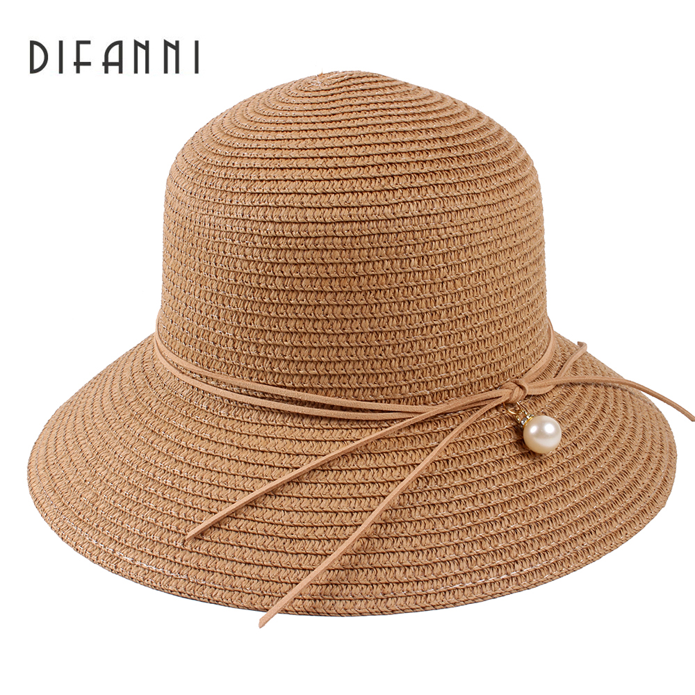 Summer Sun Hats for Women Solid Large Brimmed Sun Hats Black White Floppy Hats