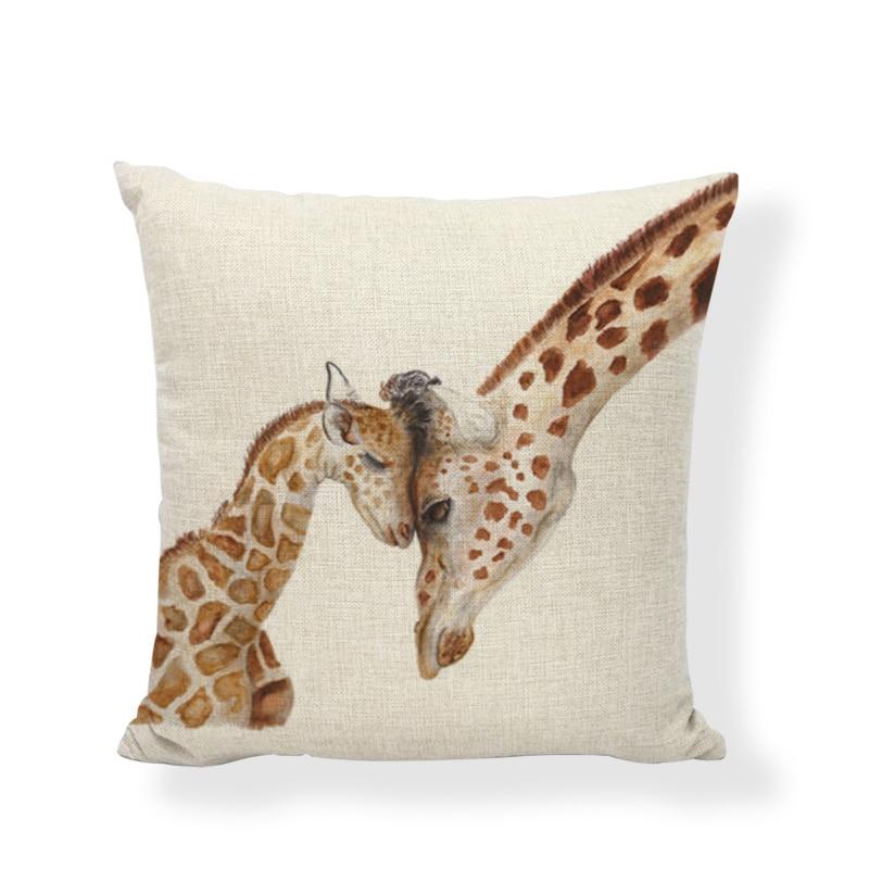 Hot Sale Linen Pillow Cover Maternal Love Balloon Skirt Cushion Cover Home Sofa Office Bedroom Decorative Pillow Case 45x45 CM