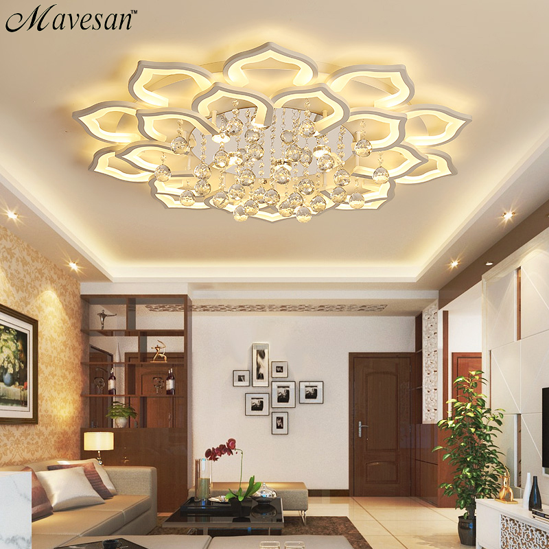 Us 969 49 Offnew Acrylic Modern Chandelier Lights For Living Room Bedroom Dimmable Led Indoor Lamp Home Lighting Fixtures Lustres Lampadario In
