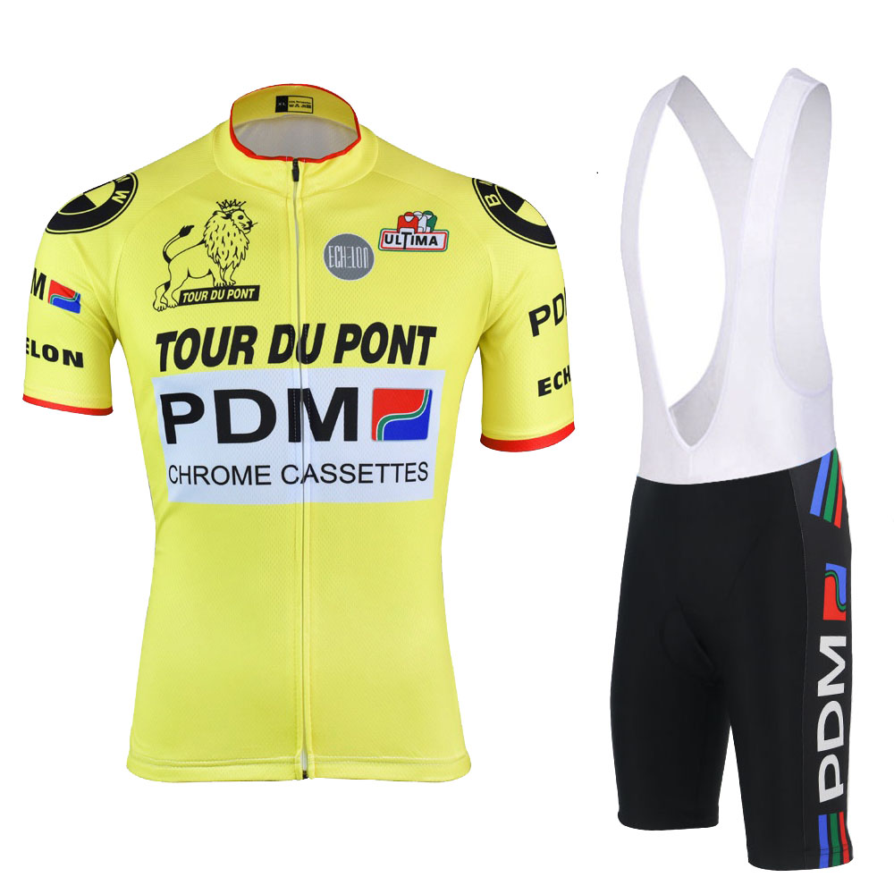 9d82be588 PDM cycling Jersey bike wear Men short sleeve jersey set and bib shorts gel  pad ropa Ciclismo summer cycling clothing MTB