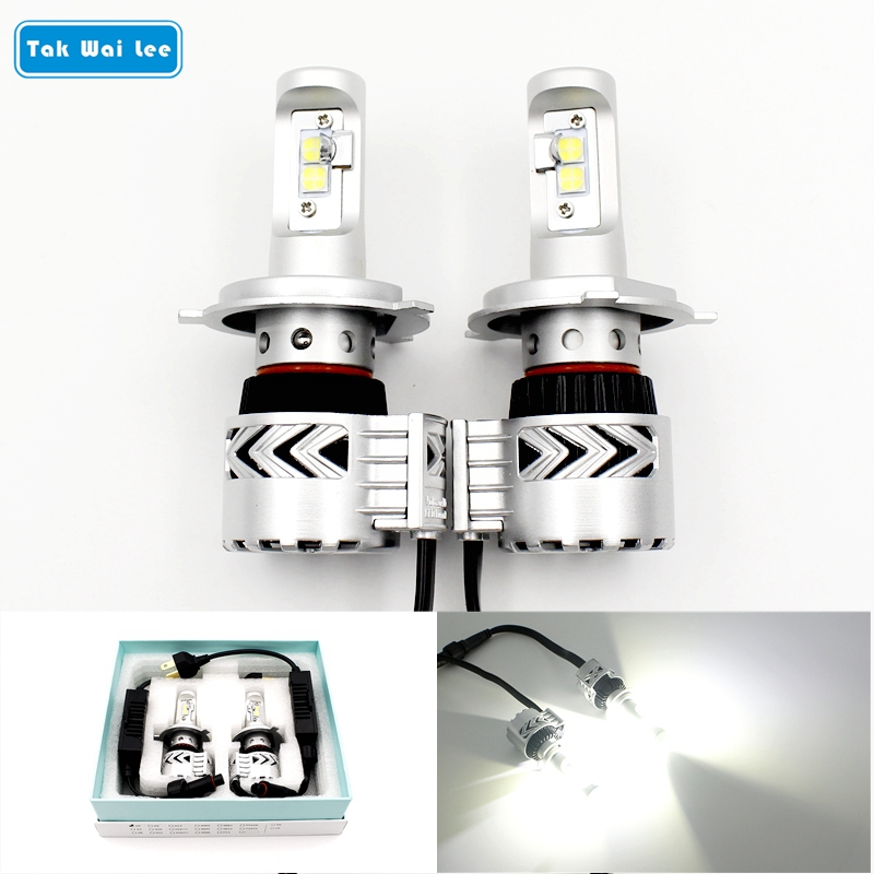Tak Wai Lee 2X LED Car Headlight Hi/Lo Beam Integration 36W Auto Bulb 6000LM 6500K Luxeon MZ Source Styling DRL Front Fog Lamp free shipping 2pcs super bright car headlight 9007 hi lo h l high and low 60w 6000lm cob all in one led auto front fog bulb