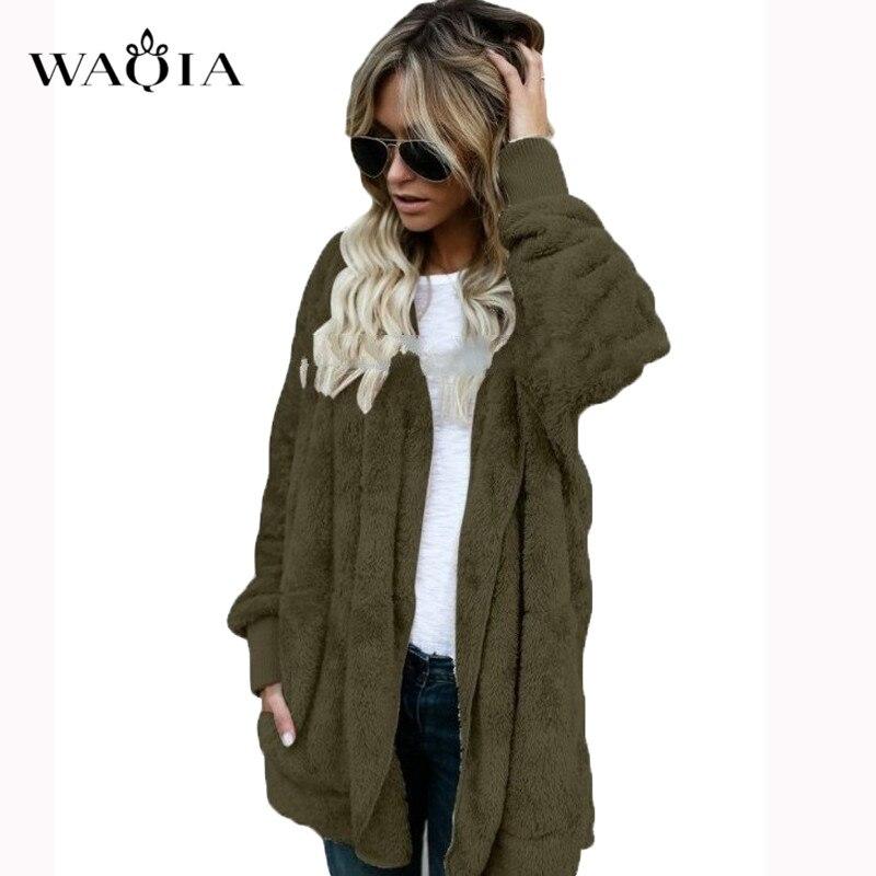 90d087c164f Αγορά Σακάκια & παλτά | WAQIA Women's Jackets Winter Coat Women Cardigans  Ladies Warm Jumper Fleece Faux Fur Coat Hoodie Outwear Manteau Femme Plus  Size