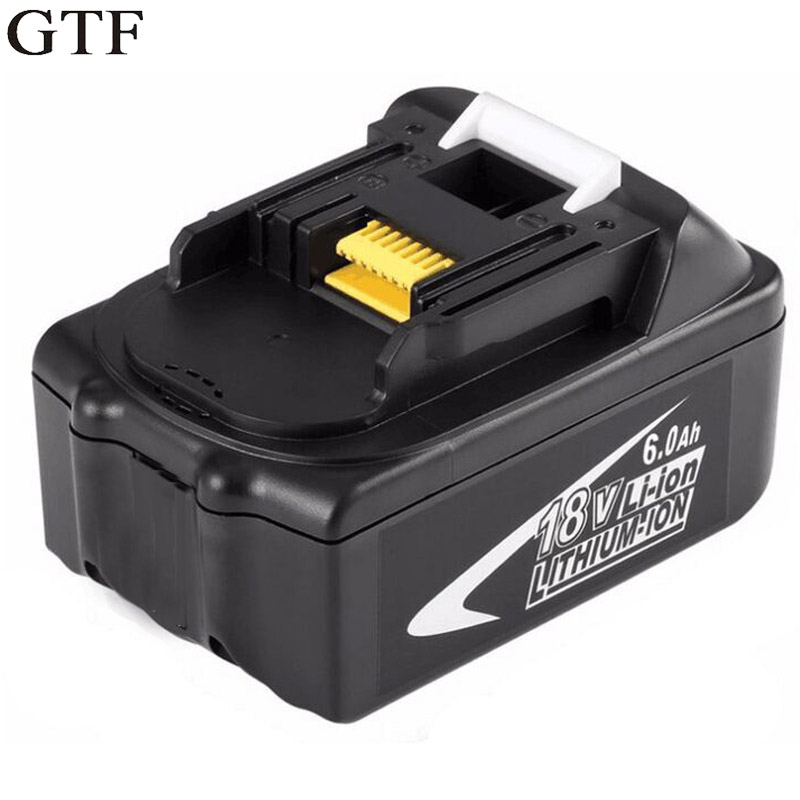 GTF 18V 6000mAh Rechargeable Battery Packs for Makita BL1860 Replacement Battery Li-ion Batteria For 194230-4 LXT400 Accumulator 18v 6000mah rechargeable battery built in sony 18650 vtc6 li ion batteries replacement power tool battery for makita bl1860