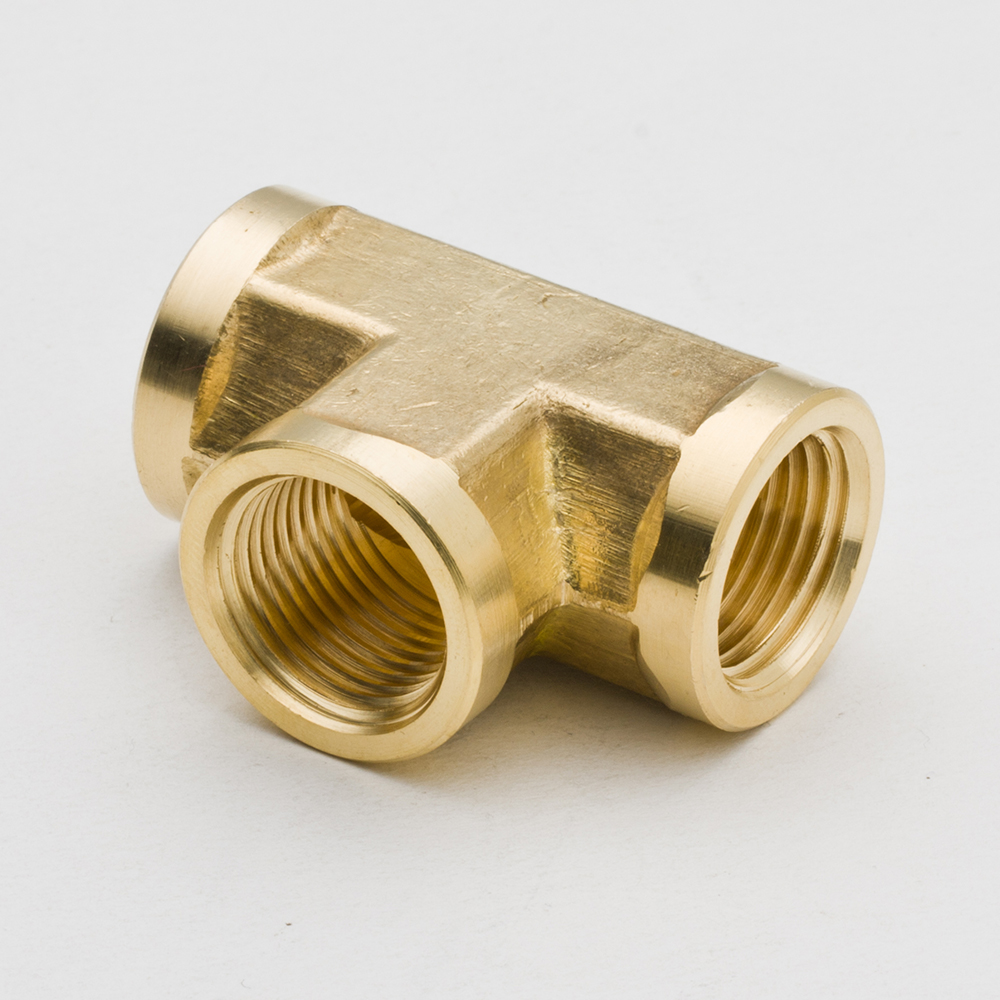 50PCS Legines Brass Pipe Fitting Forged Tee 1/8 NPT Female Thread Plumb Water Gas 3 Way Connector Accessory