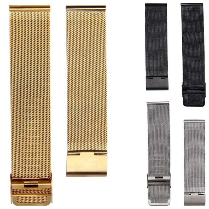 18mm 20mm 22mm 24mm Fashion Milanese Stainless Steel Wrist Watch Band Strap Buckle Link Bracelet Watch Accessories leatherman watch link buckle stainless steel multifunction tool outdoor sports bracelet accessories for men adjustable buckle
