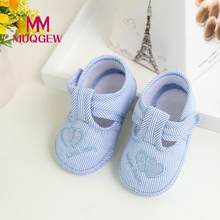 Newborn Girl Boy footwear for newborns Soft Sole Crib Toddler Shoes Canvas Blue newest Sneaker baby Cloth bootees for babies(China)
