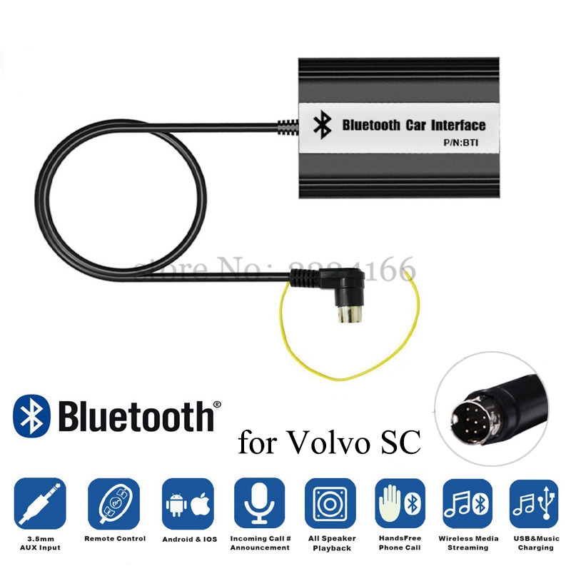 SITAILE Car Bluetooth A2DP MP3 Music Adapter for Volvo SC-series C70 S80 Interface USB SD AUX car MP3 Adapter MP3 Player Car Kit yatour car adapter aux mp3 sd usb music cd changer 6 6pin connector for toyota corolla fj crusier fortuner hiace radios