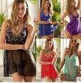 2016 новые прибытия женщины сексуальное нижнее белье лето ночное дамы кружева Плюс размер накладных M-XL-XXXL-XXXXL