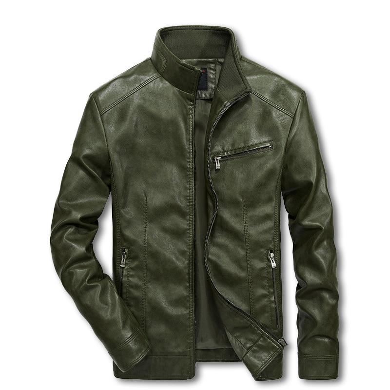 Jackets Coat Bomber-Suits Motorcycle Windbreaker Streetwear Mans 4XL 5XL Pu LBZ32 Men
