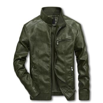 Uomini In Pelle Moto Giubbotti 4XL 5XL Uomo Dell'unità di elaborazione Streetwear Cappotto Mans Bomber Vestiti Giacca A Vento LBZ32