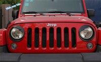 Lapetus Para Jeep Wrangler 2011-2017 ABS Auto Styling Face Front Light Farol Com Raiva Pássaro Estilo Cobertura para Carcaça Guarnição 2 pçs/set