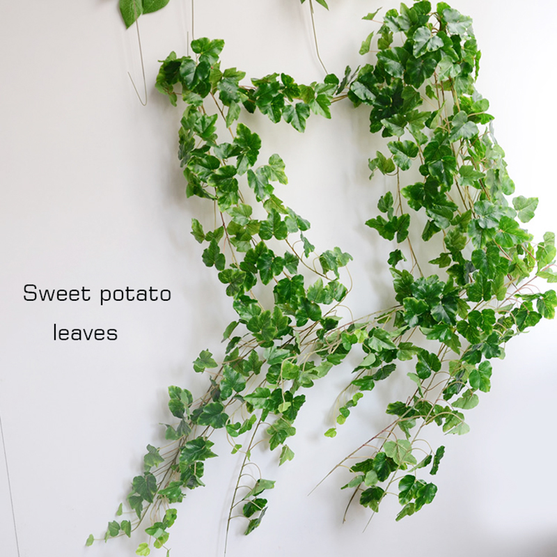 10PCS LOT 6 5Feet Artificial Ivy Leaves Grape leaf Sweet potato leave Flower Vine Home Decor