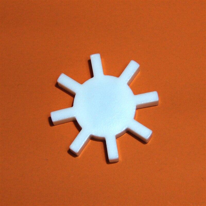 PTFE Magnetic Stirrer Bar Stir Mixer PTFE Octagon Shape Stirring Bars 41mm White Teflon Spin Bars Plum, Gear Shape, 1pcs
