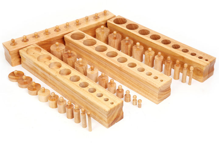 Baby Toys Montessori Large Cylinder Blocks Socket Early Development Senses Building Blocks Educational Toys gift free ship 1 set of 100pc children kids natural wooden build blocks montessori sensorial early development educational material
