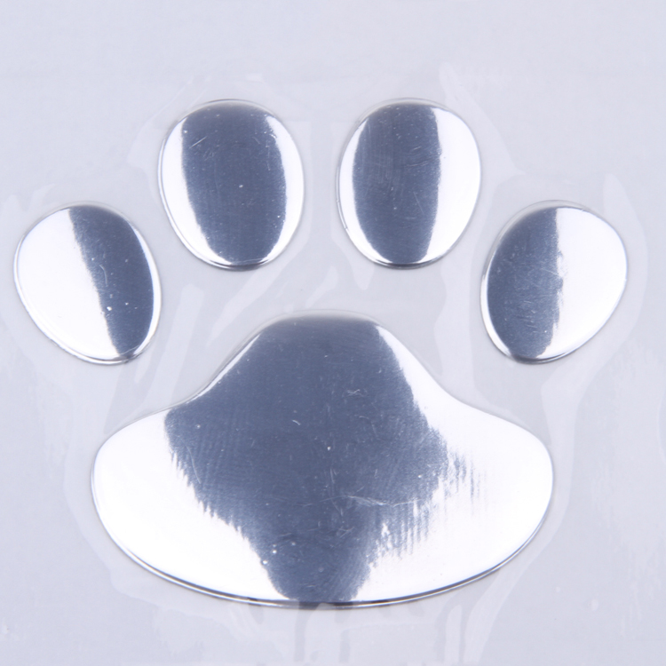 1 PCS New Cute Feet Car Sticker 3D Bear Paw Pet Animal Footprints Car Sticker Truck Decor Decal Accessories 2