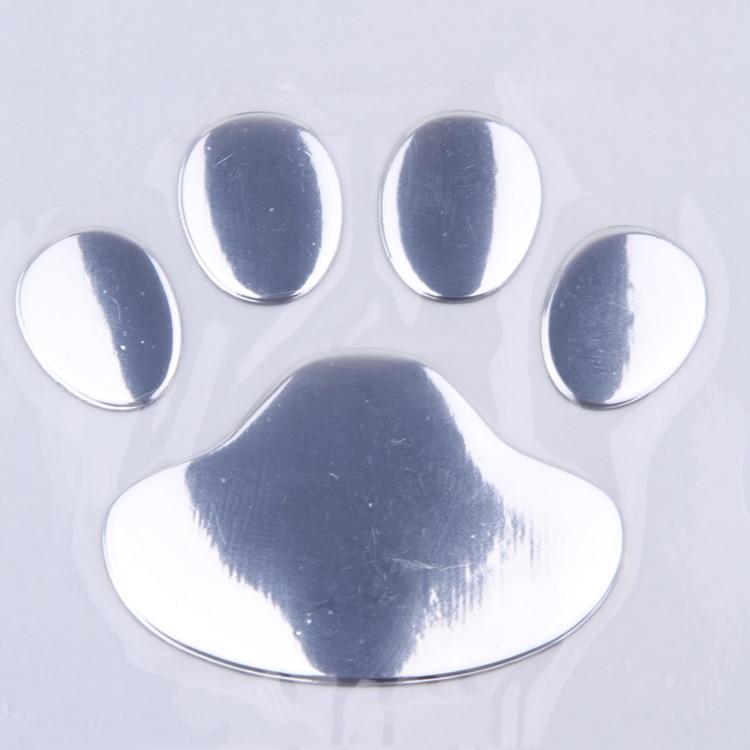 1 PCS New Cute Feet Car Sticker 3D Bear Paw Pet Animal Footprints Car Sticker Truck Decor Decal Accessories 2
